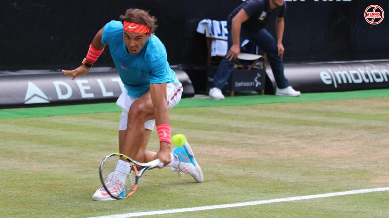 Rafael Nadal Close Stance Backhand Slice