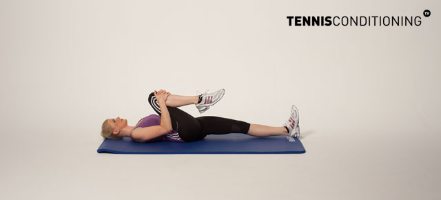 Glute Stretch: Knee to Chest