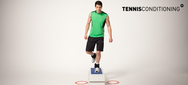 Adductor Box Jump Rebounds With Single Leg Landing