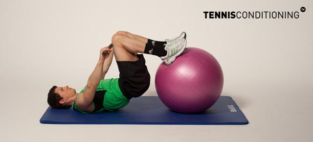 Tns Physio Ball Leg Curl Shoulder Extension Tennis
