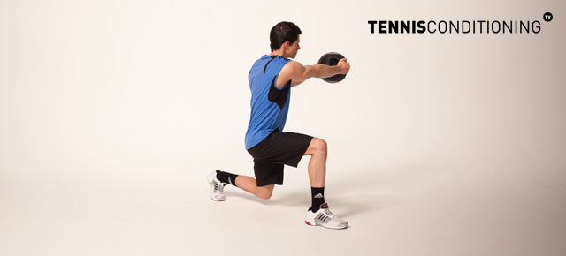 Diagonal Lunge Med Ball Trunk Rotations