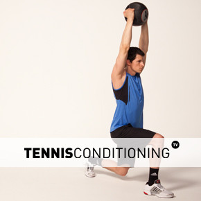 Alternating Lunge Overhead Med Ball Pull Over