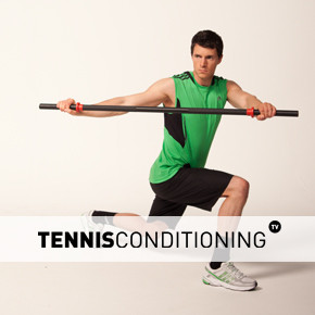 Lunge with Bar Rotations
