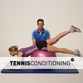 Assisted Prone Physio Ball Unilateral Leg Extension
