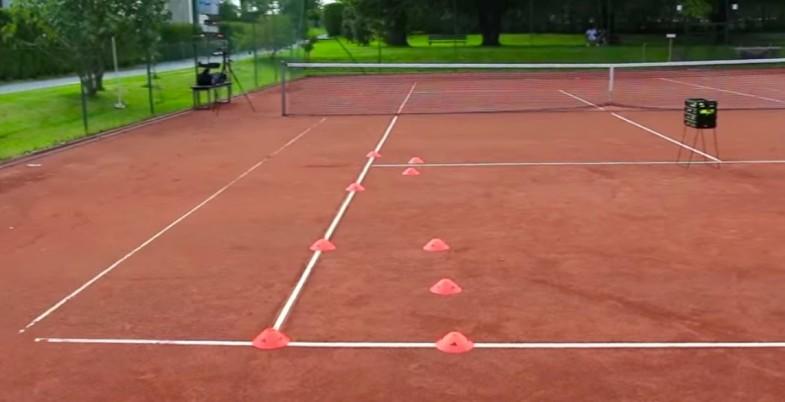 tennis drill setup
