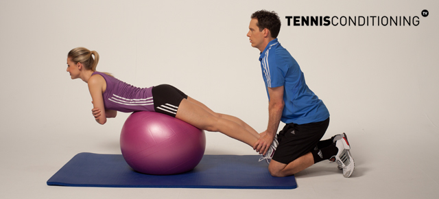 Assisted Prone Physioball Trunk Extension