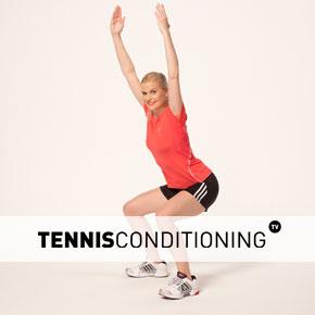 tns dynamic squat with overhead reach stretch  tennis