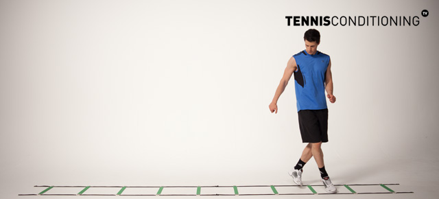 Lateral Posterior Cross Over Speed Ladder Drill